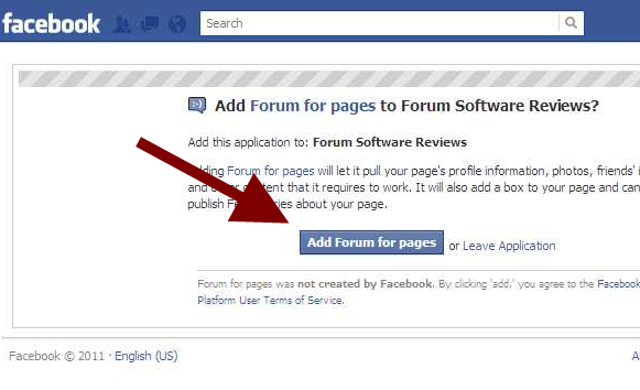 Add Forum for pages Confirmation
