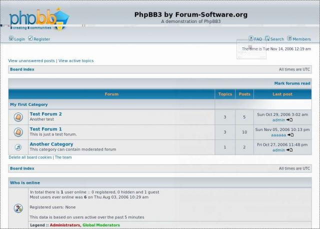 PhpBB 3 Demo