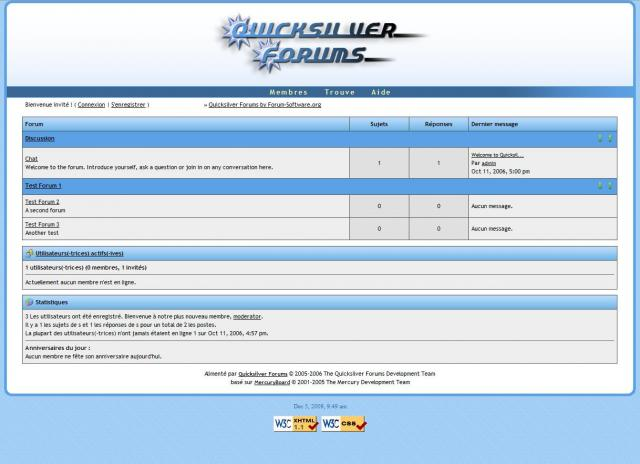 Quicksilver Forums Demo