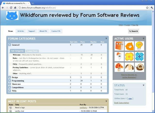 Wikid Forum Demo