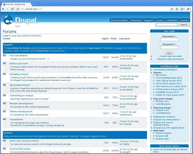 Compare Drupal Forum vs MyBB | Forum Software Reviews