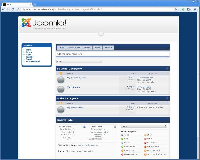 Joomla Forum Demo
