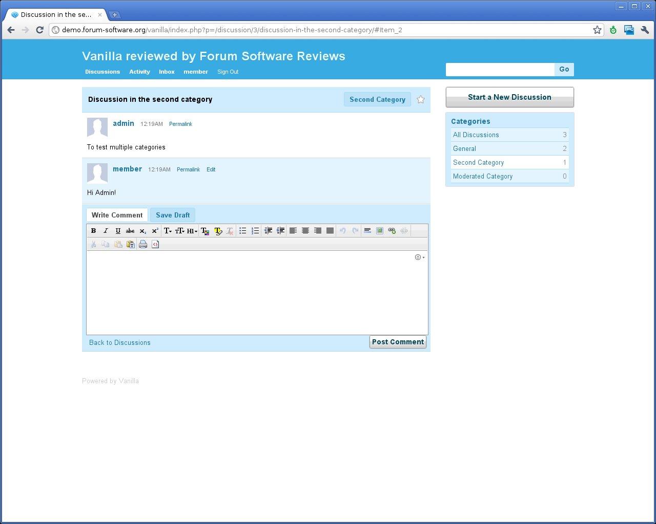 Vanilla Forums Review   Forum Software Reviews