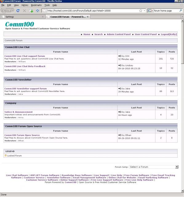 Comm100 Forum Demo
