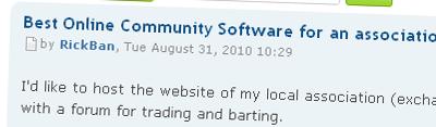 Drupal Forum Topic