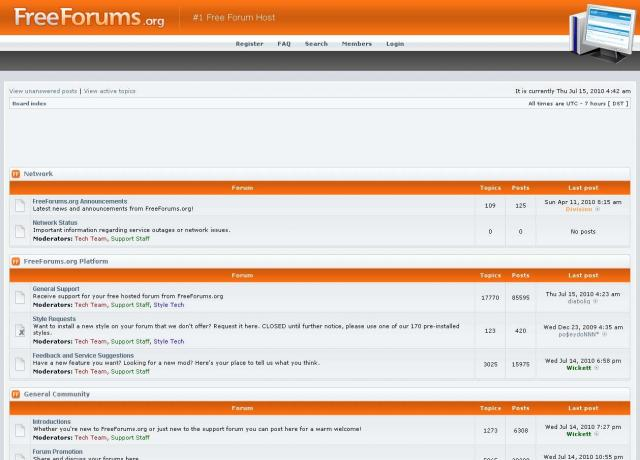 FreeForums Demo