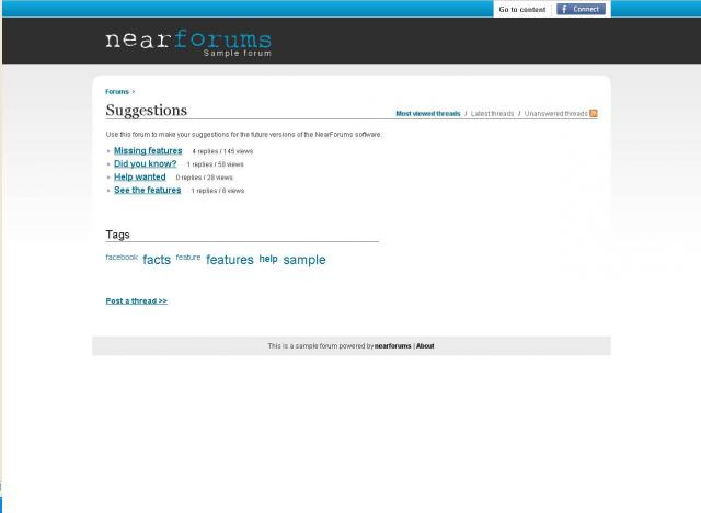 NearForums Demo