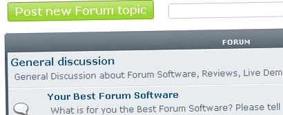 Screenshot of the new forum
