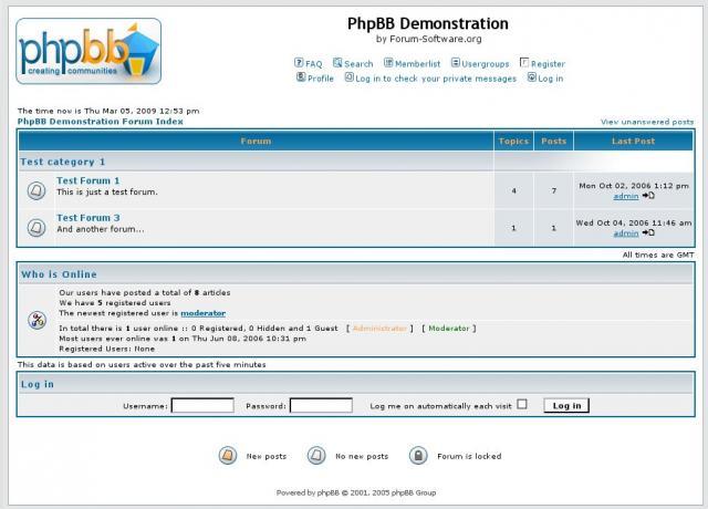 PhpBB 2 Demo