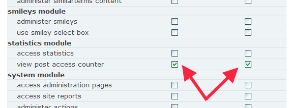 Enable Statistics Permissions to display view count